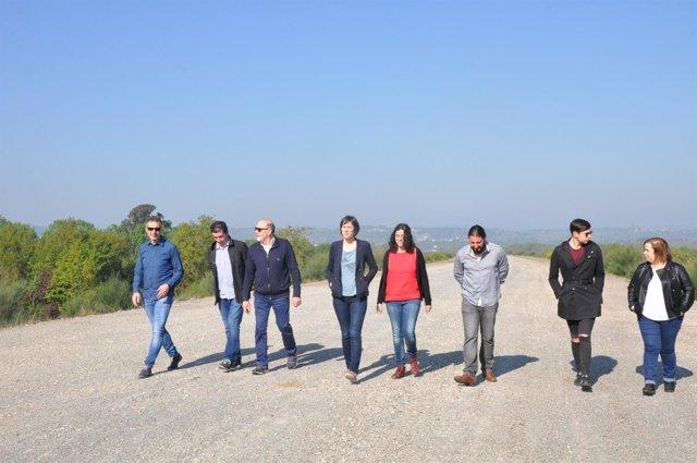 Visita de Ana Pontón (BNG) a obras del AVE paralizadas