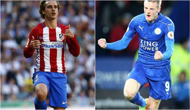Griezmann y Vardy, protagonistas del Atlético - Leicester