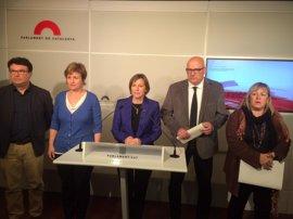 Los tres expresidentes del Parlament convocan un acto de apoyo a Forcadell el 19 de abril