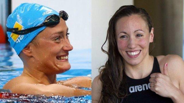 Mireia Belmonte y Jessica Vall en el Campeonato de España