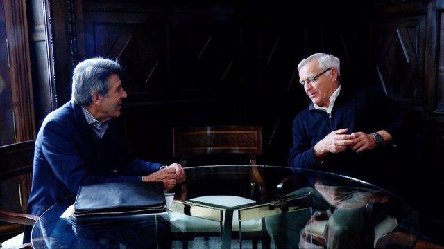 El alcalde Joan Ribó recibe al presidente de Porcelanosa, Manuel Colonques