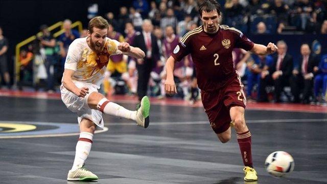 Pola en el España - Rusia de fútbol sala