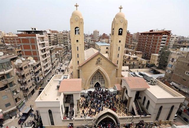 Atentado en la iglesia copta de San Jorge, en Tanta, Egipto.