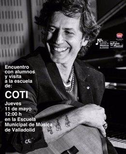 Promoción del encuentro de Coti en la Escuela de Música