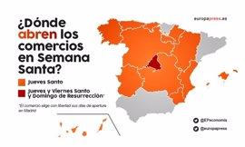Semana Santa: qué días abren los comercios en cada comunidad autónoma