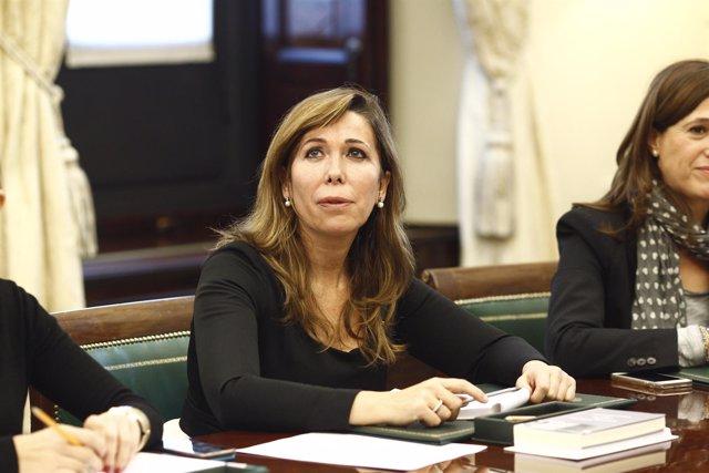 Alicia Sánchez Camacho en la primera reunión de la mesa del Congreso