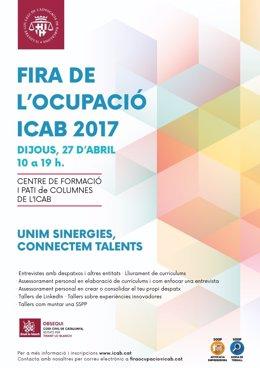 Cartel de la feria del empleo del Icab 2017