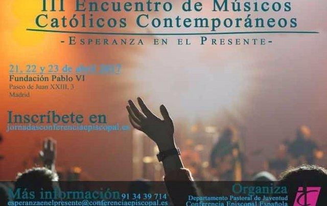 Cartel III Encuentro de músicos católicos contemporáneos