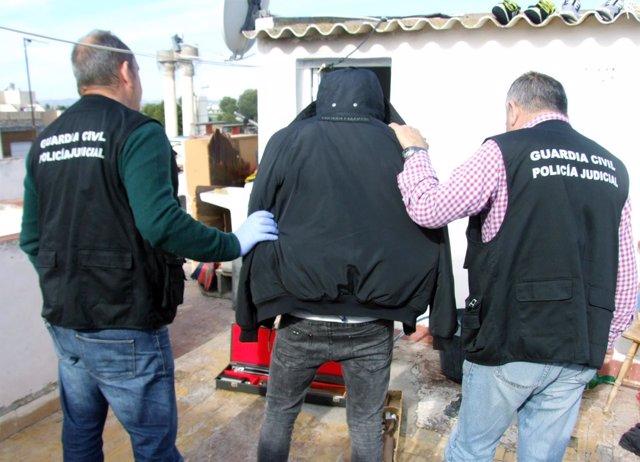 Detención llevada a cabo por agentes de la Guardia Civil