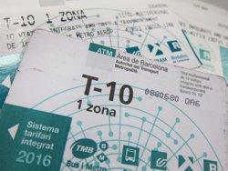 La T-10 fa de Barcelona la ciutat europea més competitiva en preu del transport públic (Europa Press)