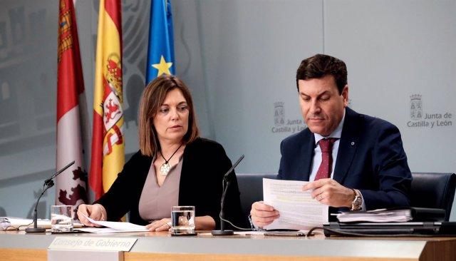 Marcos y Fernández Carriedo tras el Consejo de Gobierno