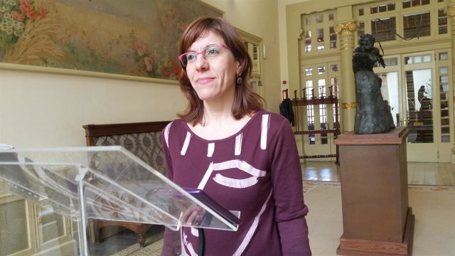 La portavoz de Podemos, Laura Camargo