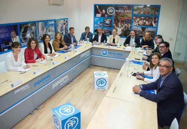 Imagen de la reunión del Comité de Dirección del PP de Madrid