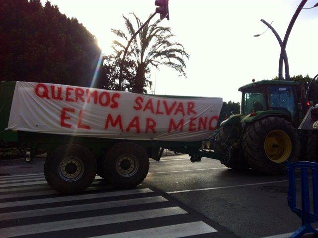 Protesta de los agricultores, tractores