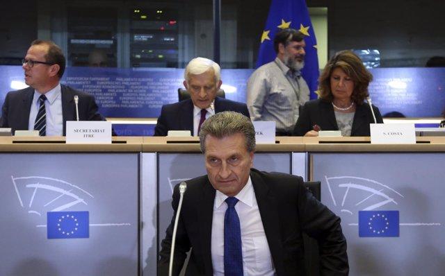 El comisario alemán Günther Oettinger