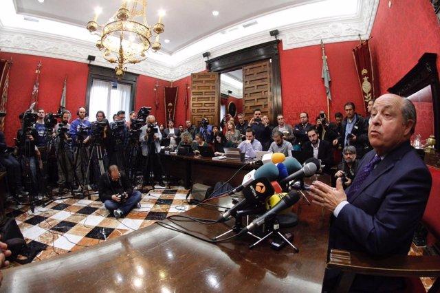 Torres Hurtado, en rueda de prensa tras quedar en libertad