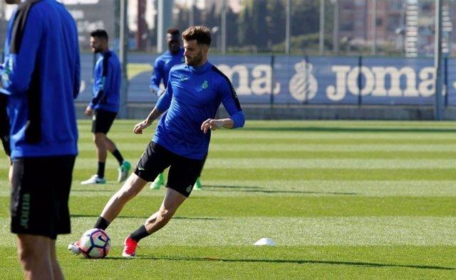 El jugador del RCD Espanyol Léo Baptistao