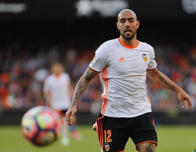 El delantero del Valencia CF Simone Zaza