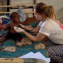 Una médico de MSF en un hospital de Bria (República Centroafricana)
