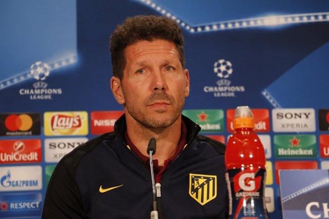 El entrenador del Atlético de Madrid Diego Pablo Simeone