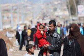 ACNUR abre otro campamento de desplazados en Irak ante la creciente llegada de familias que huyen de Mosul