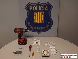 Tres detenidos en Lleida especializados en robos a repartidores de paquetería