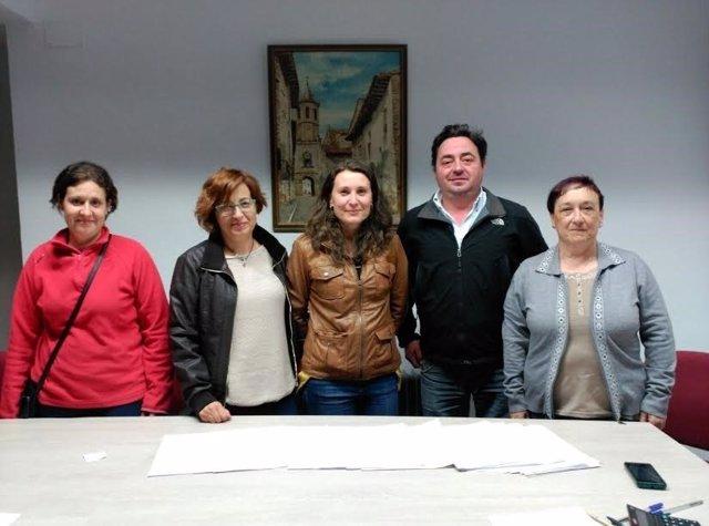 Impulsores de la petición de un aula de EOI en Cantavieja