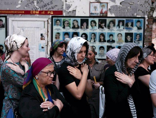 Ceremonia fúnebre en memoria de las víctimas de la matanza de Beslán