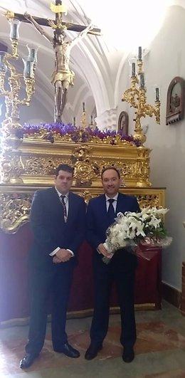 Ofrenda floral de la Diputación de Huelva al Cristo del Buen Viaje
