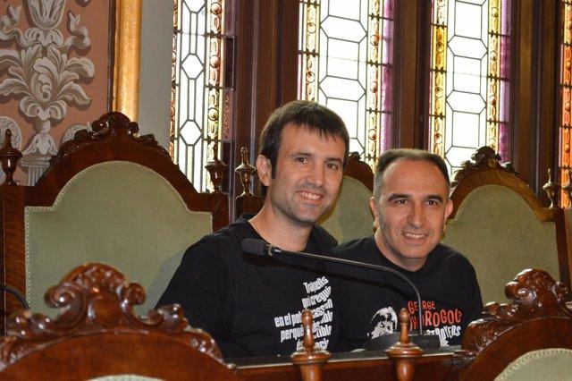 Pau Juvillà y Francesc Gabarrell, concejales de la Crida-CUP