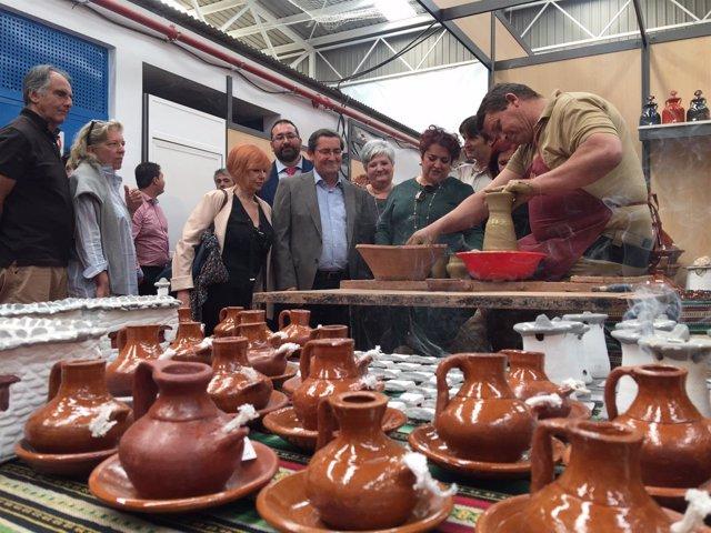 Inauguración de la XXII Feria Hecho en la Alpujarra, en Órgiva (Granada)