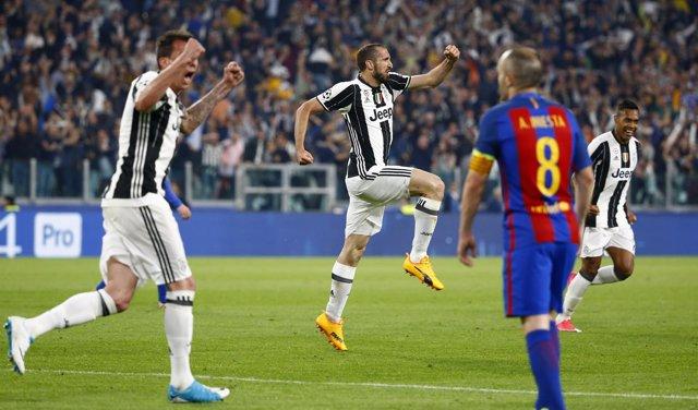 La Juventus vence al Barcelona en la ida de cuartos de la Champions