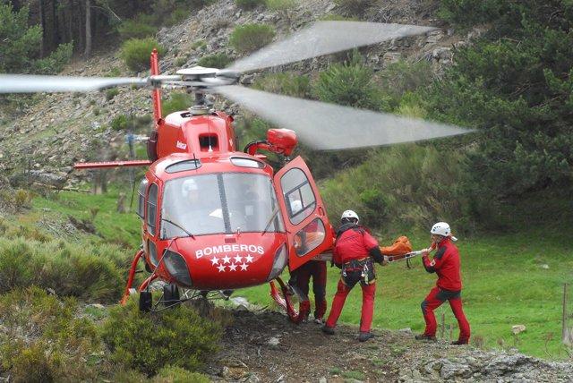 Helicóptero de los Bomberos de la Comunidad de Madrid