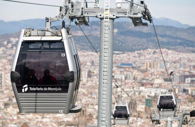 Teleférico de  Montjuïc, en Barcelona