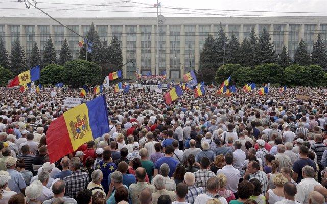 Protestas 2015 Moldavia contra la corrupción y robo