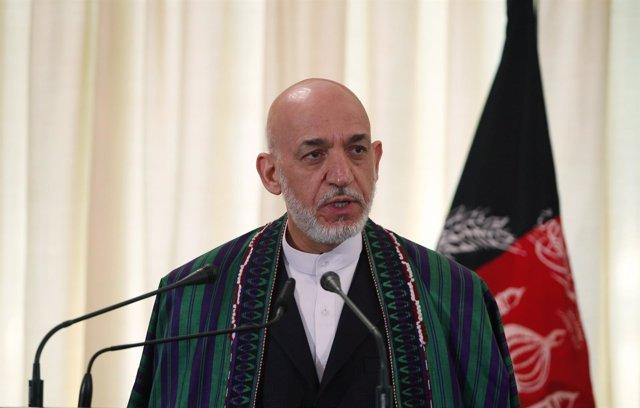 El presidente afgano, Hamid Karzai