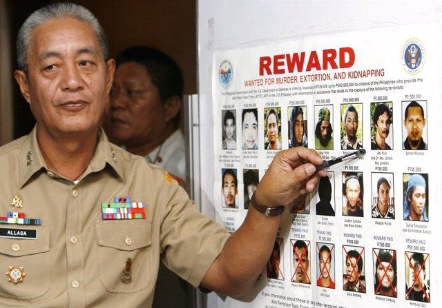Comandante Nelson Allaga de Filipinas