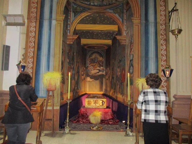 Monumento de Semana Santa en la localidad oscense de Biscarrués