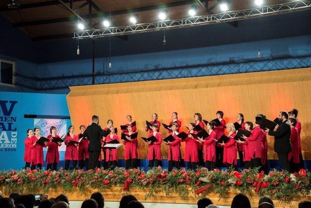 Uno de los coros que ha actuado en el Certamen Coral de Ejea