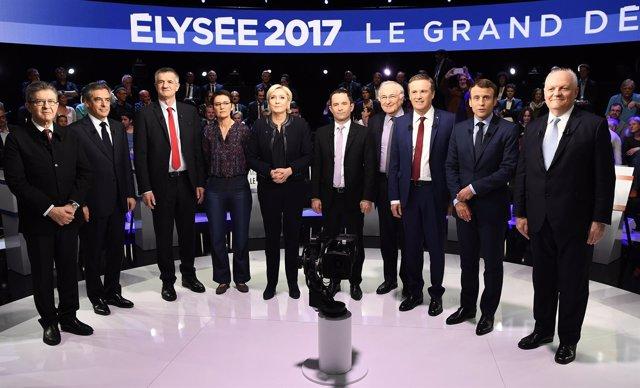Debate entre candidatos a la Presidencia de Francia