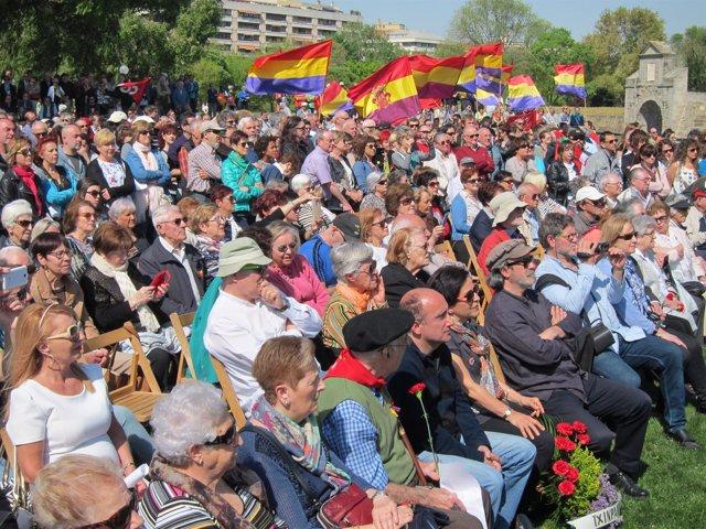 Acto celebrado en la Vuelta del Castillo de Pamplona.