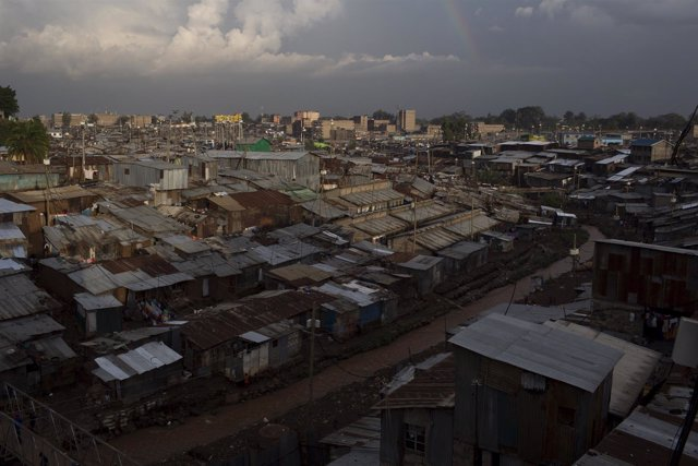 Poblado chabolista en Nairobi