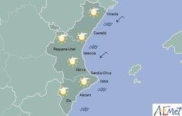 El cielo estará parcialmente cubierto en toda la región