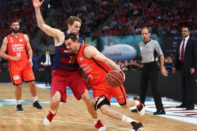 Rafa Martínez en el Valencia Basket - Barcelona
