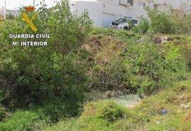 La Guardia Civil localiza un vertido ilegal de aguas industriales en Telde (Gran Canaria)