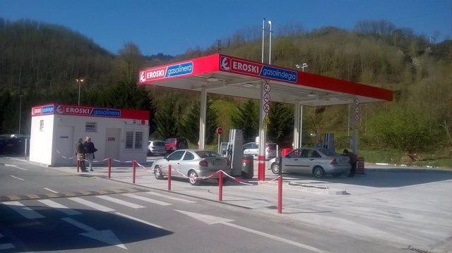 Nueva gasolinera de Eroski.