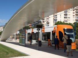 El TRAM modifica su servicio desde este domingo hasta el viernes por obras en estaciones