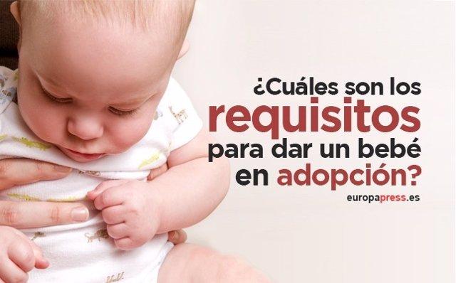 Requisitos para dar a un bebé en adopción