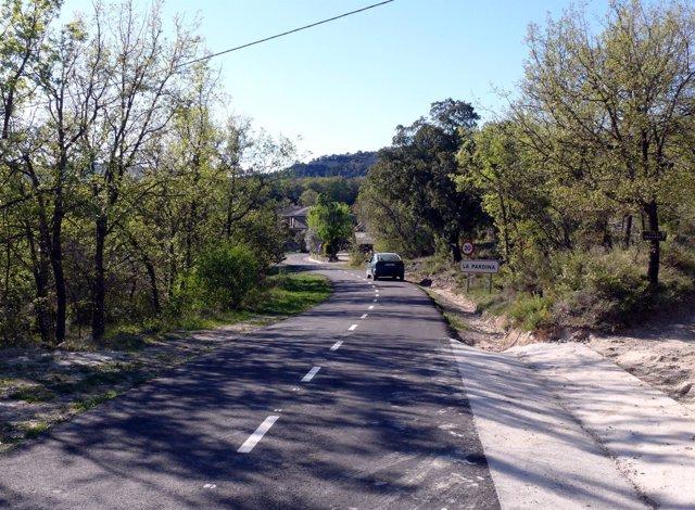 La Diputación de Huesca finaliza la reforma del acceso a Castejón de Sobrarbe.