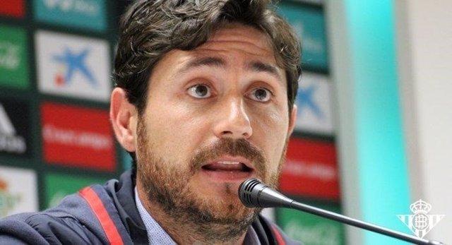 Víctor Sánchez, entrenador del Real Betis